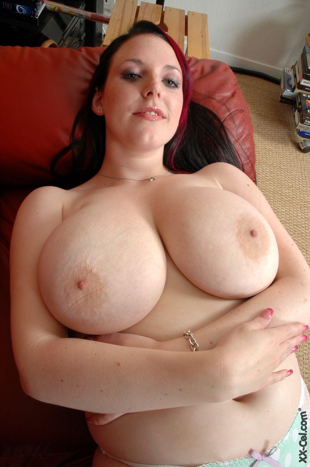 Pale huge tits-8976
