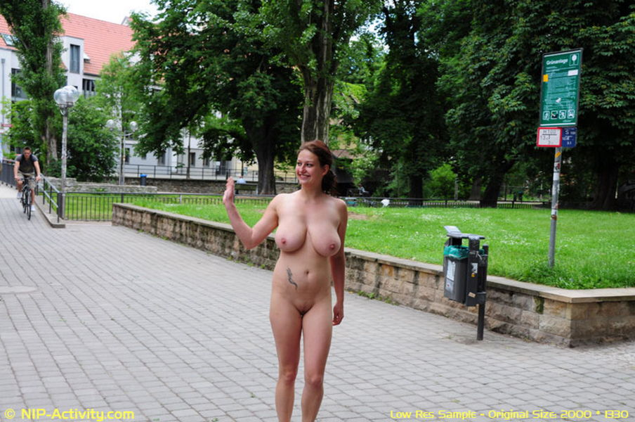 girl walking naked