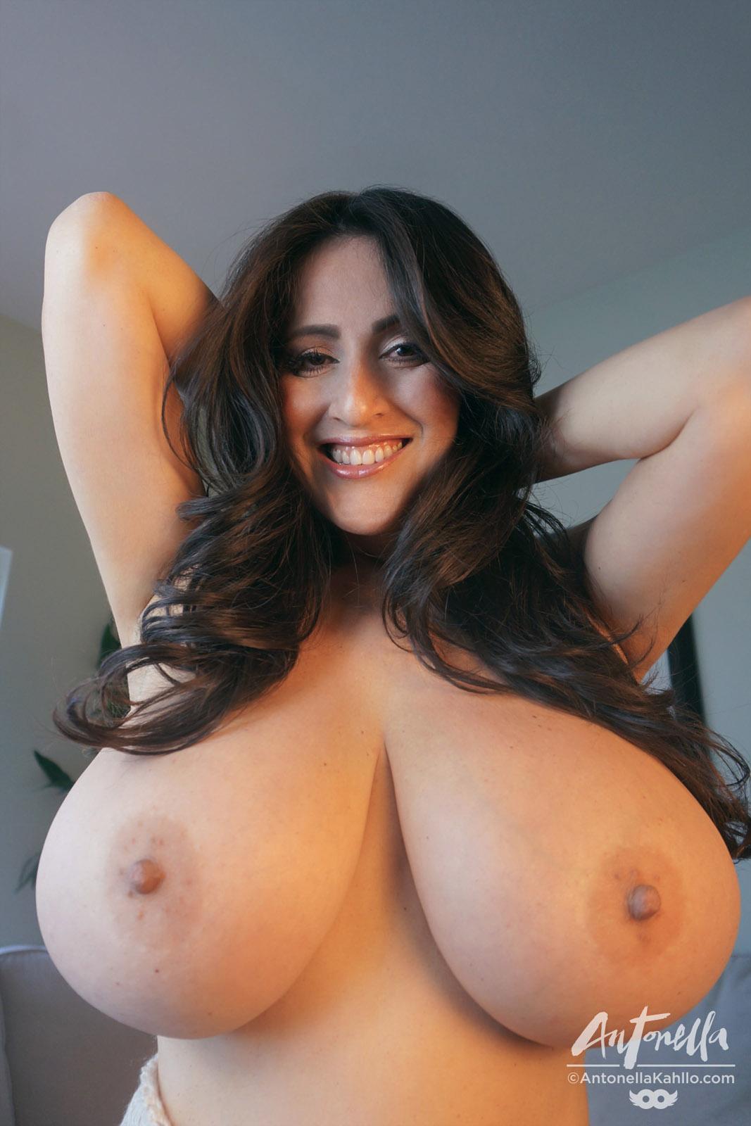 Mature massive round boobs naked