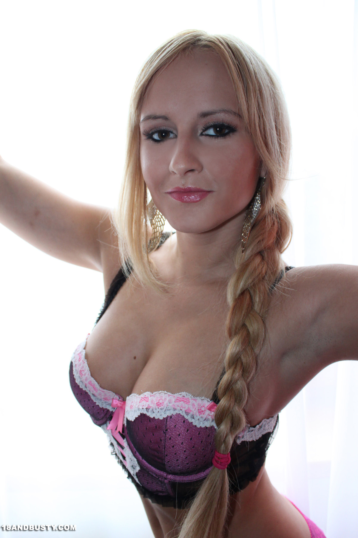 Are sexy blonde pigtails big tits consider