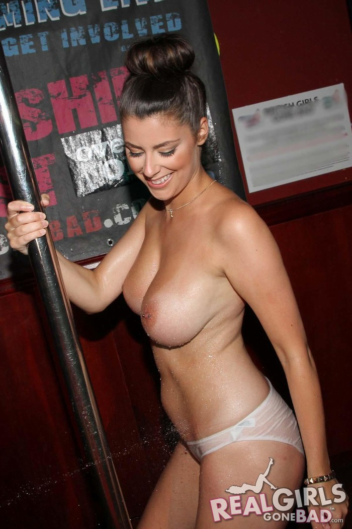 Busty brunette nude pub party rather valuable