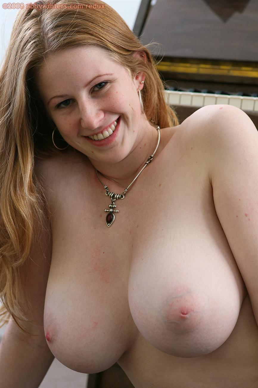 Big natural red head tits