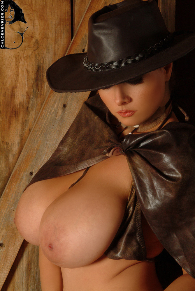 Cowgirl with big tits naked