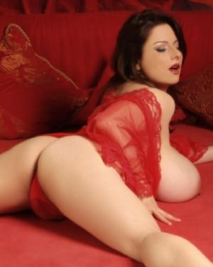Chloe Vevrier Red Lingerie Curves
