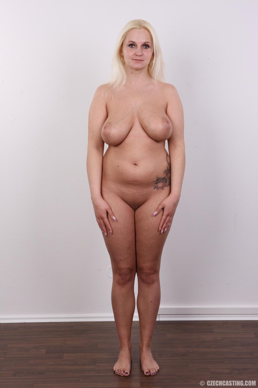 Girl with uneven boobs rides dildo