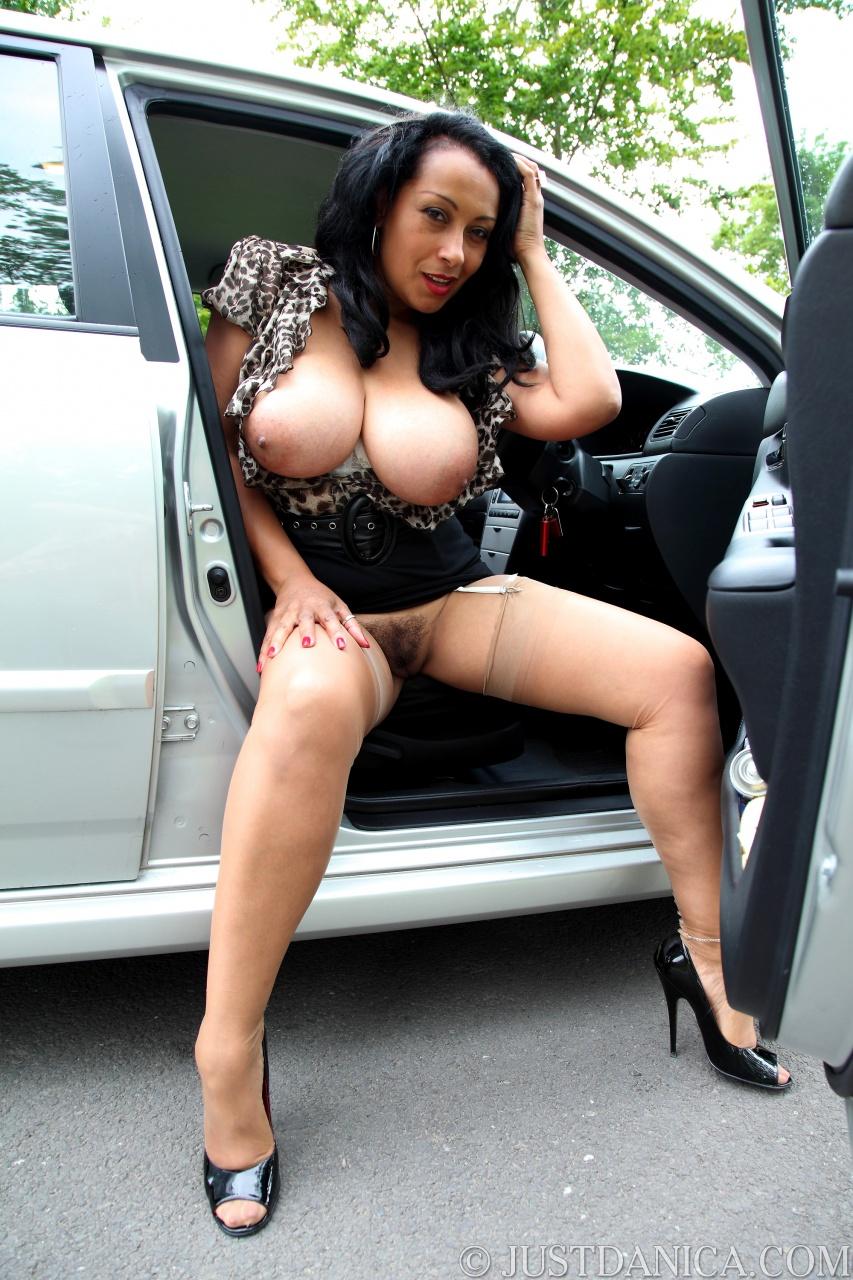 Danica collins in car