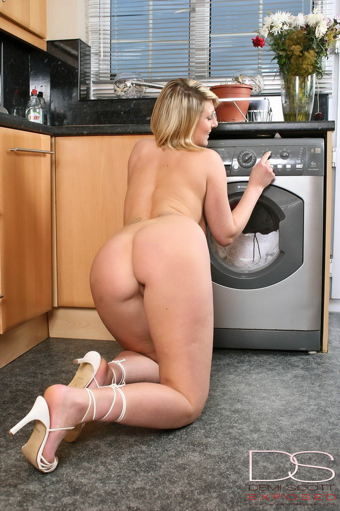 Sorry, Nude girl doing laundry with