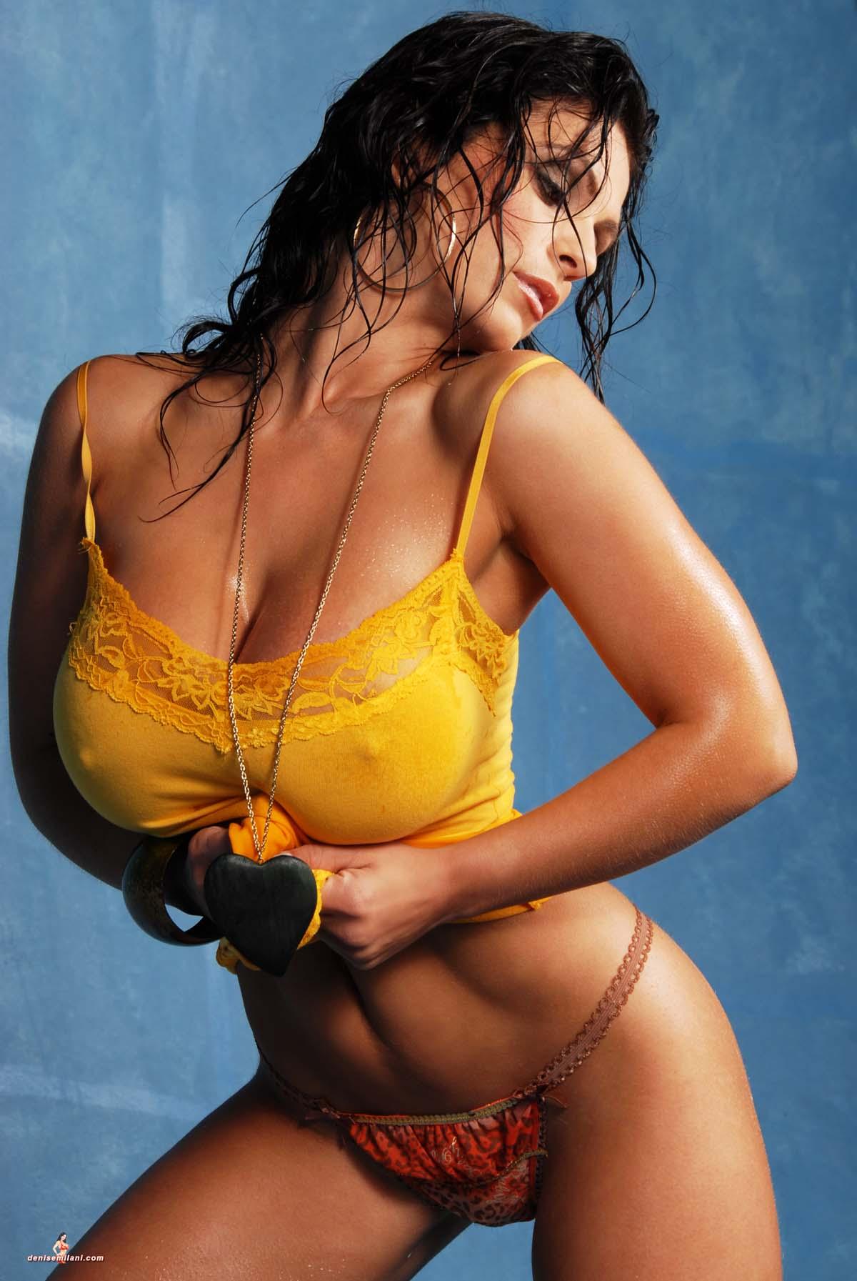 Denise milani shows boobs