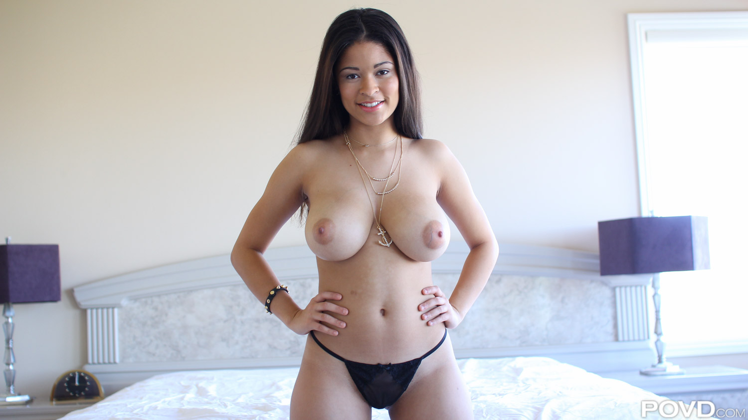 Busty japanese cutie wearing fishnet stockings plays with he 5