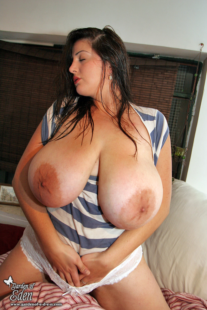 Big tits with huge areolas will