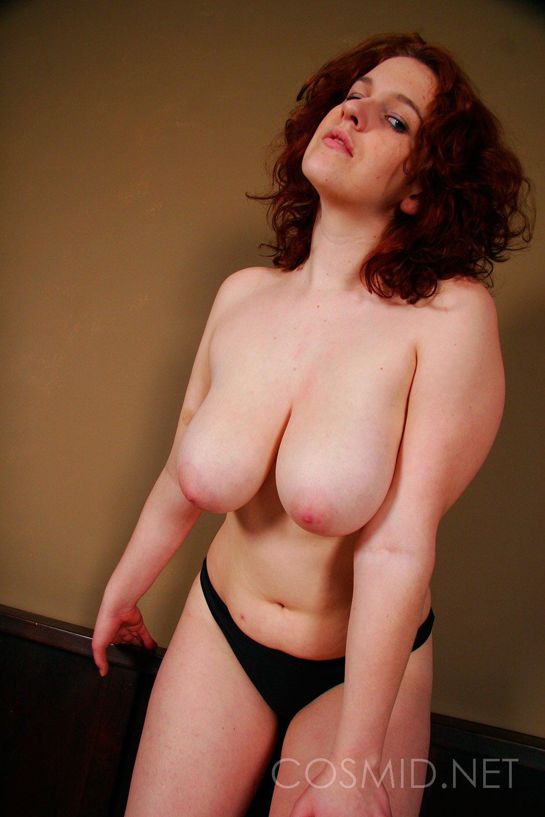 sexy curvy redhead woman
