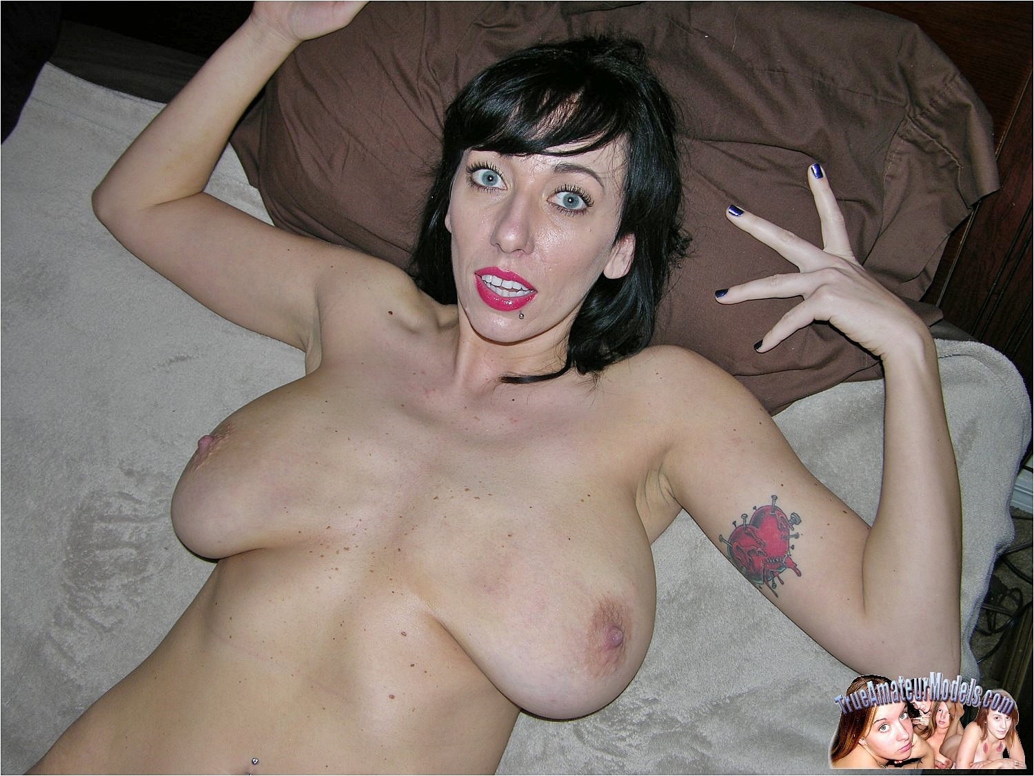 Big tits milf loves cock and balls
