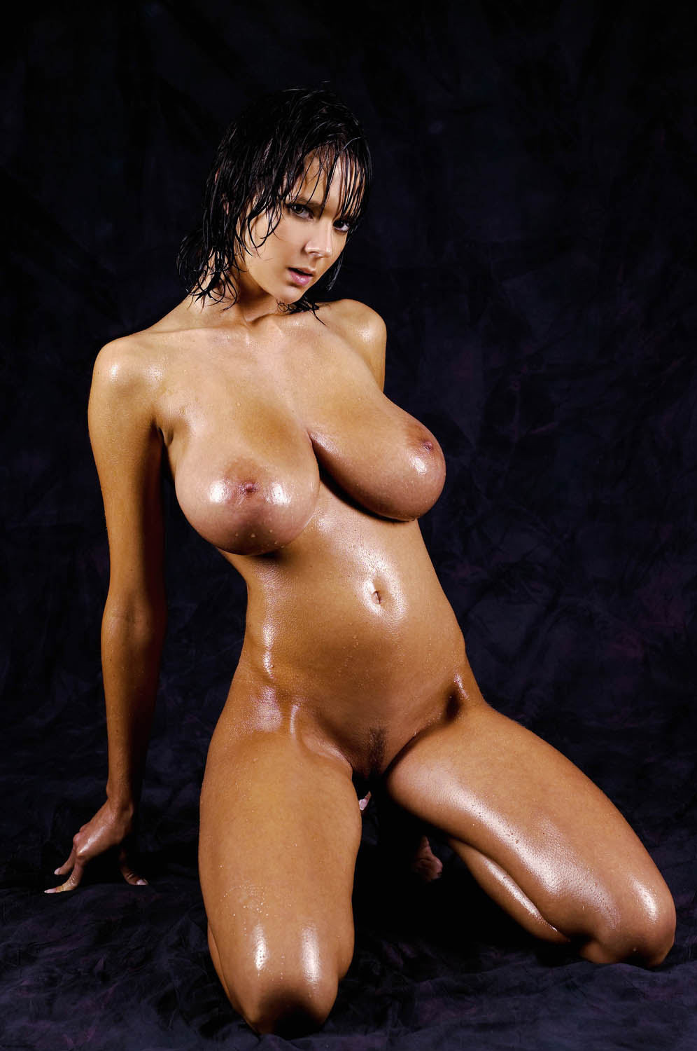 Oiled naked women sex boobs