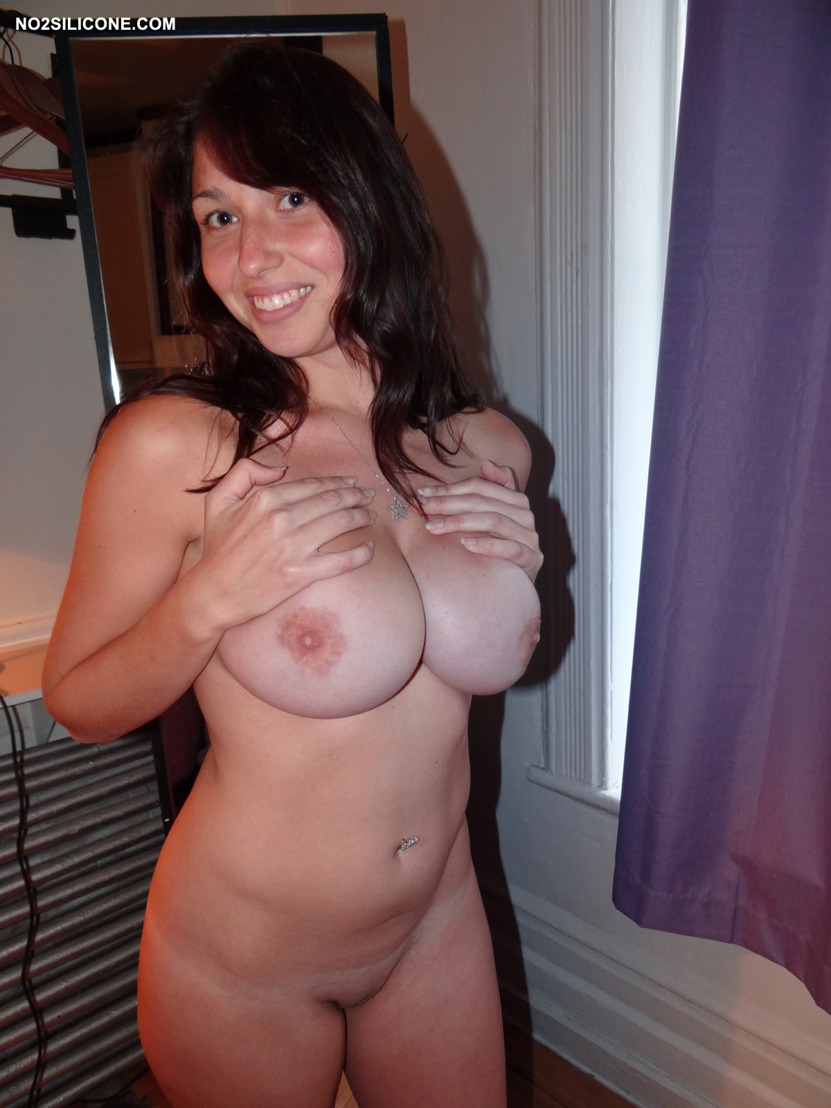 Naked girl mirror big boob advise