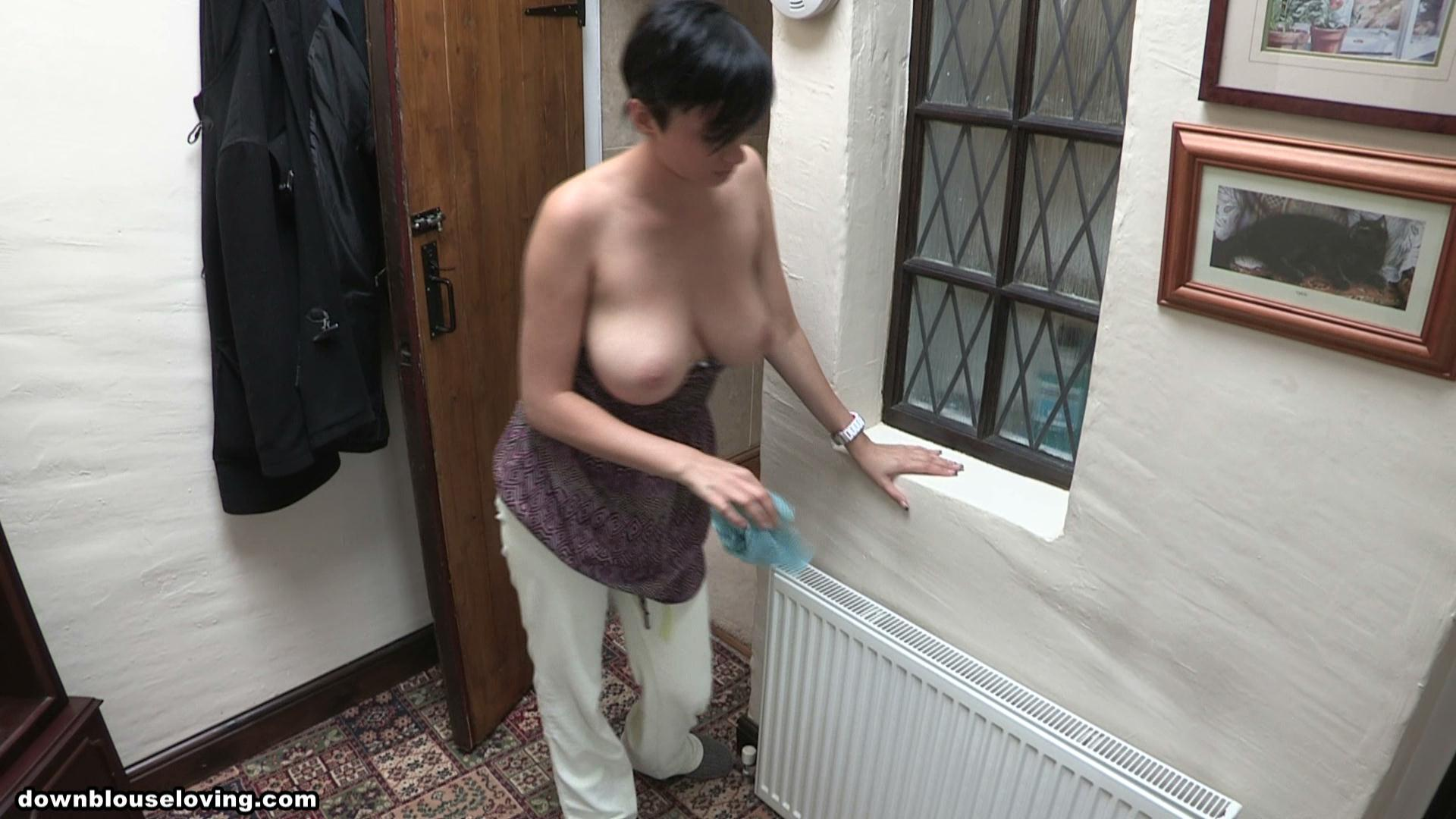 from Manuel busty topless in the house