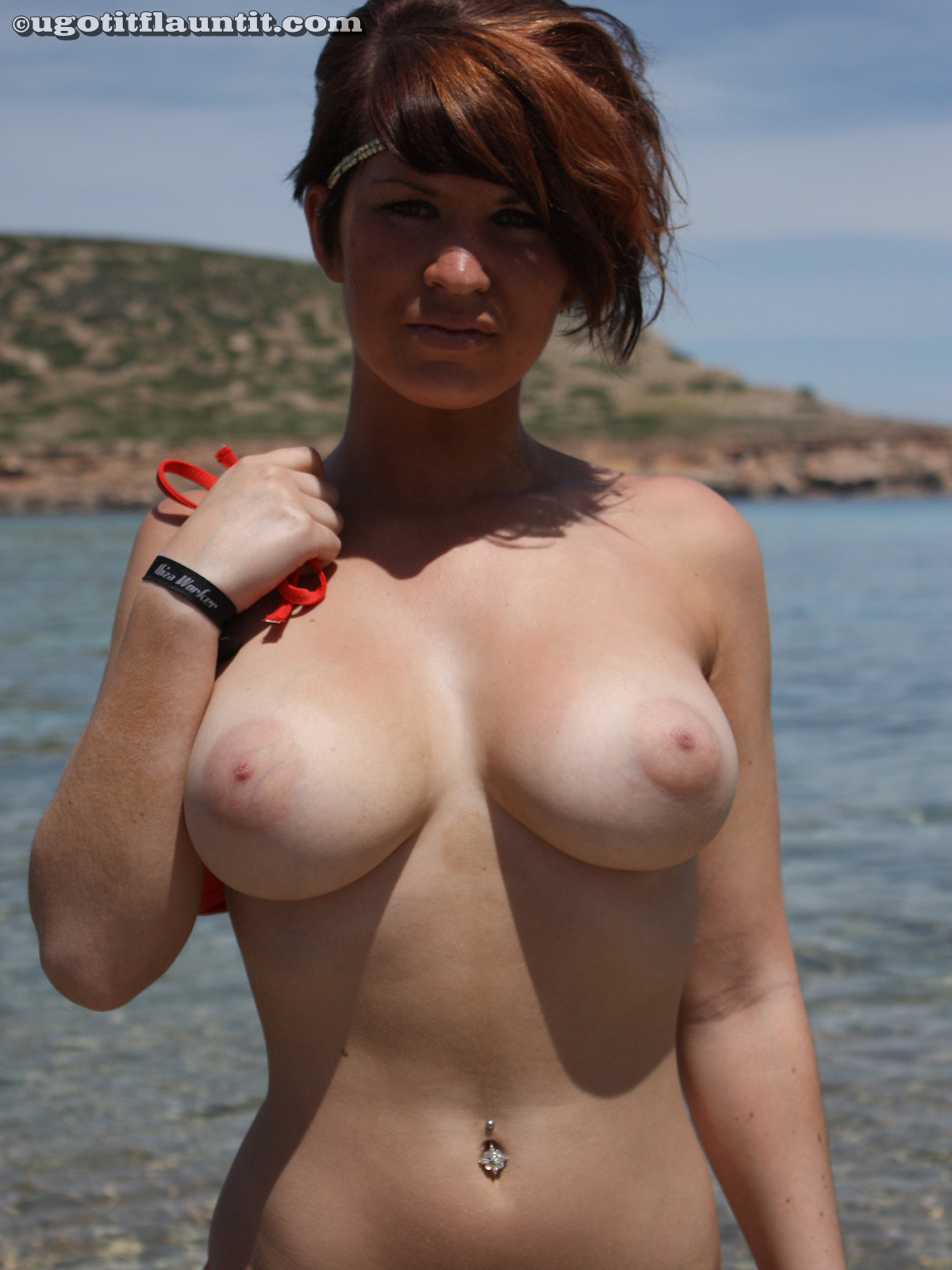 Beach and tits