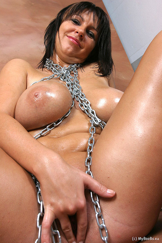 Busty and chained