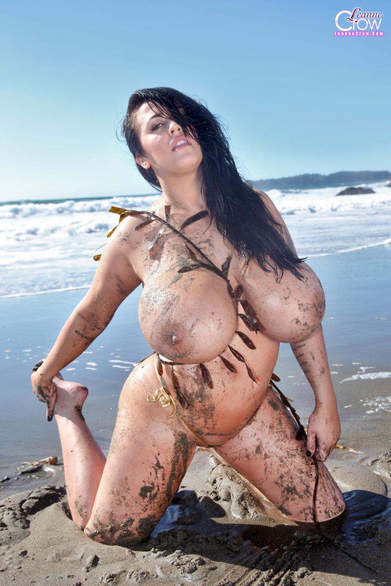Bikini busting boobs