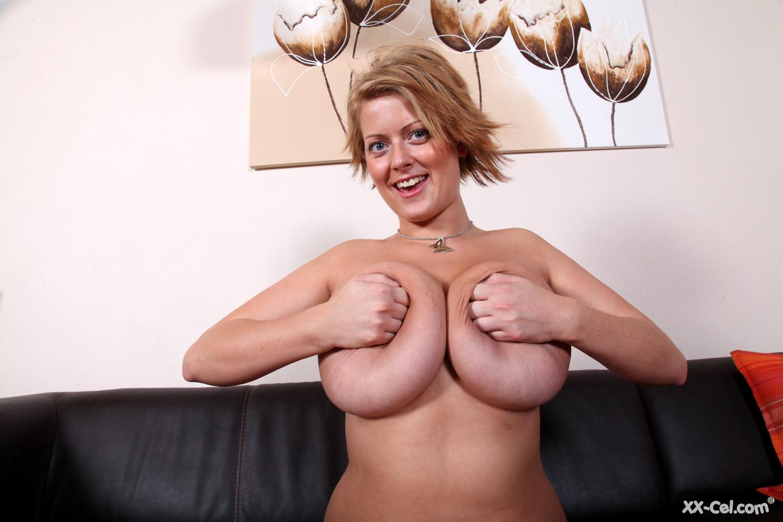 Huge natural tits xx cel