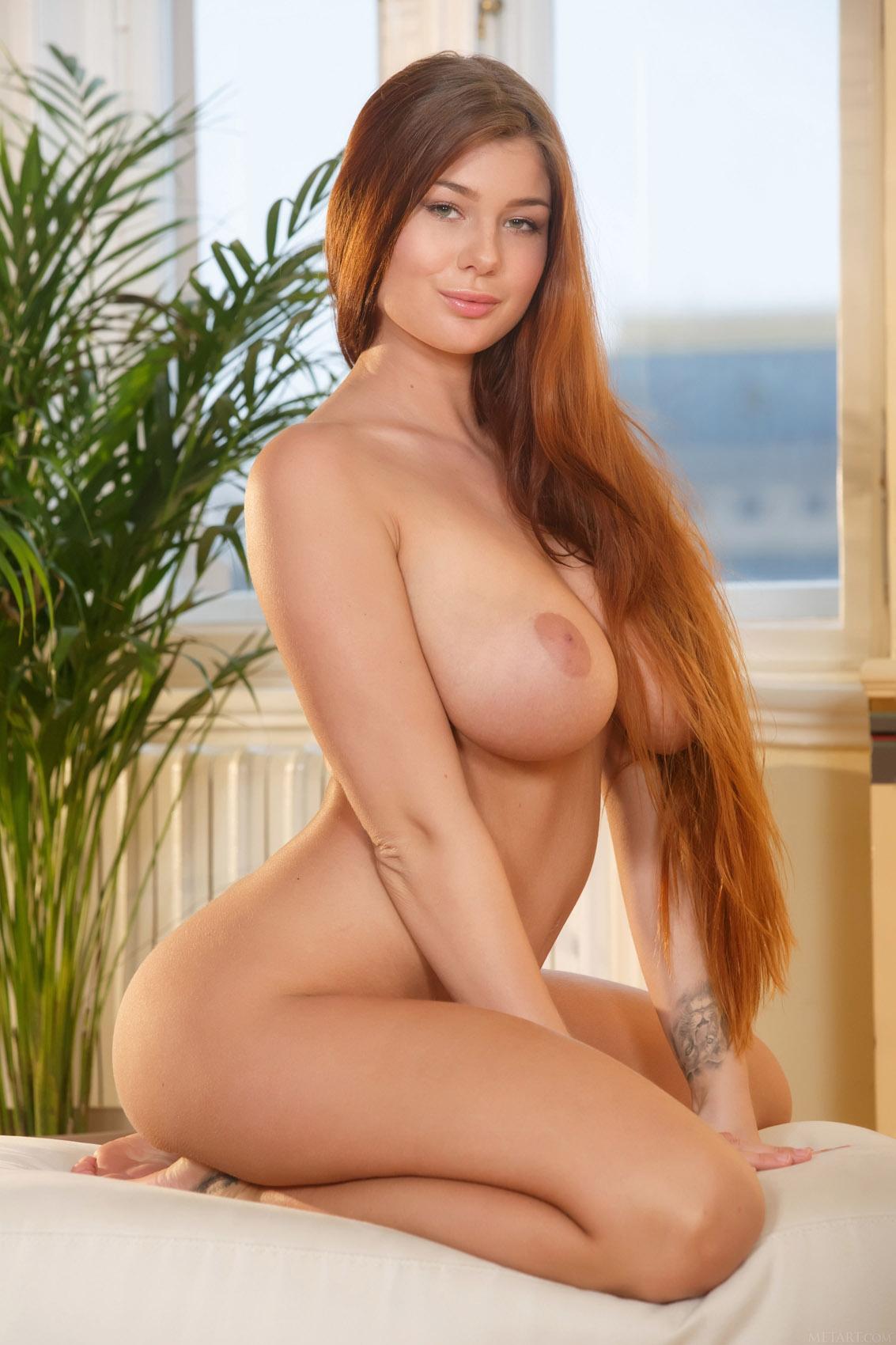 Long hair nude