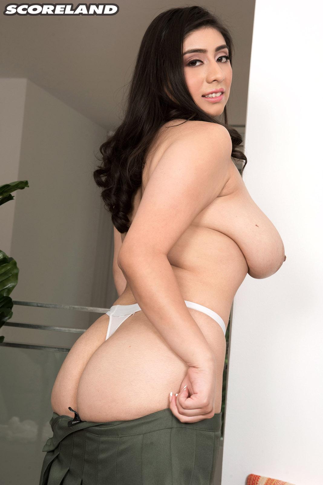Big bra busting tits