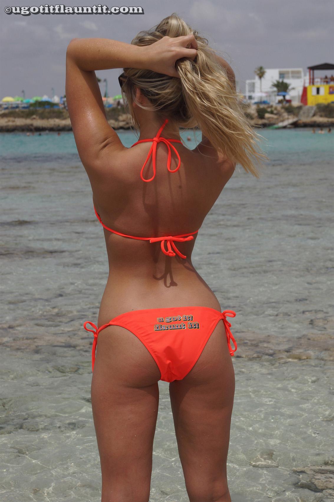 beach bikini tease