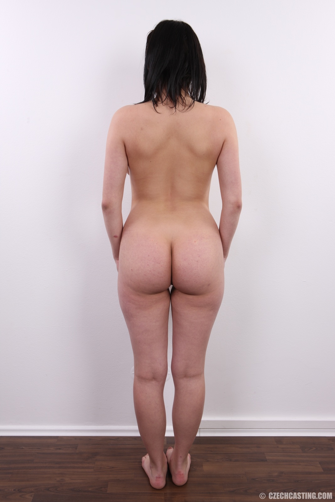 Nude woman picture from behind