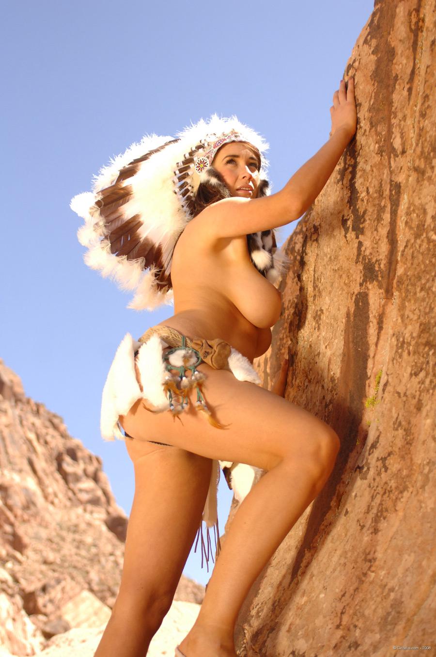 Indianerin Nackt