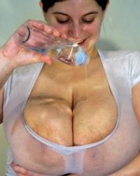 Sarah Rae Oiled Wet Shirt