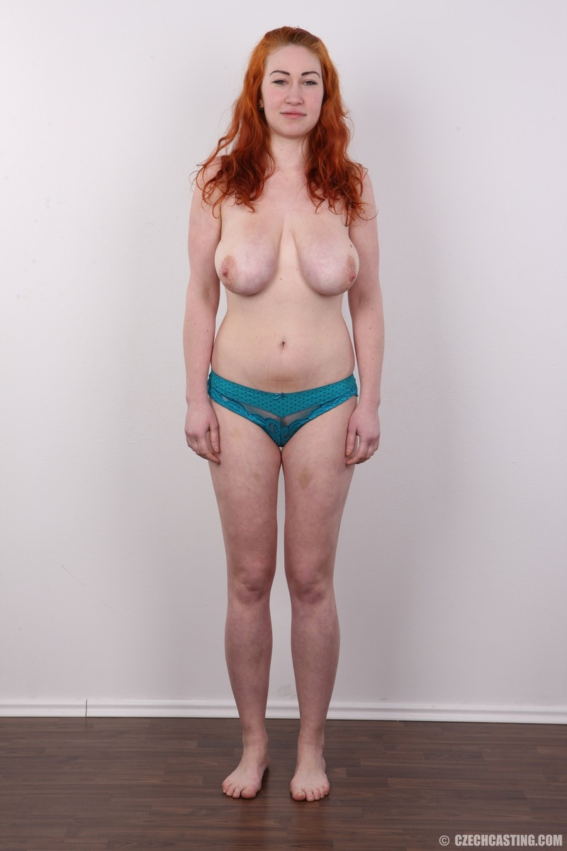 Czech casting redhead