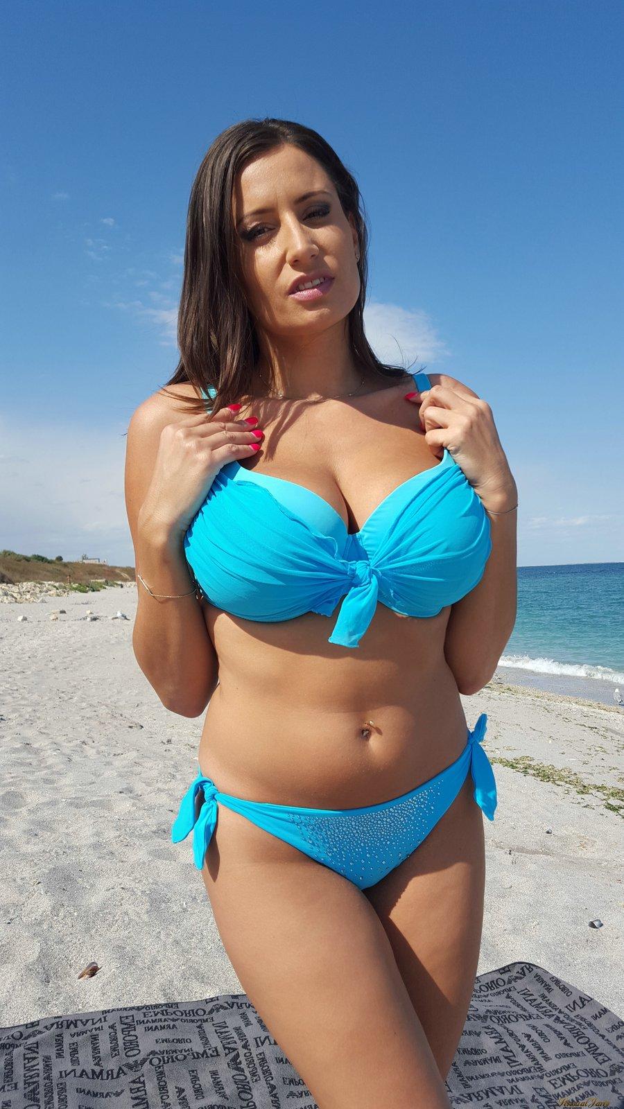 Girls in bikini at beach