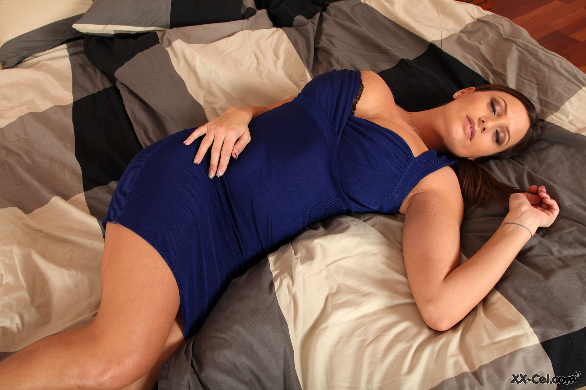 Sensual Jane Tight Blue Dress Xxcel