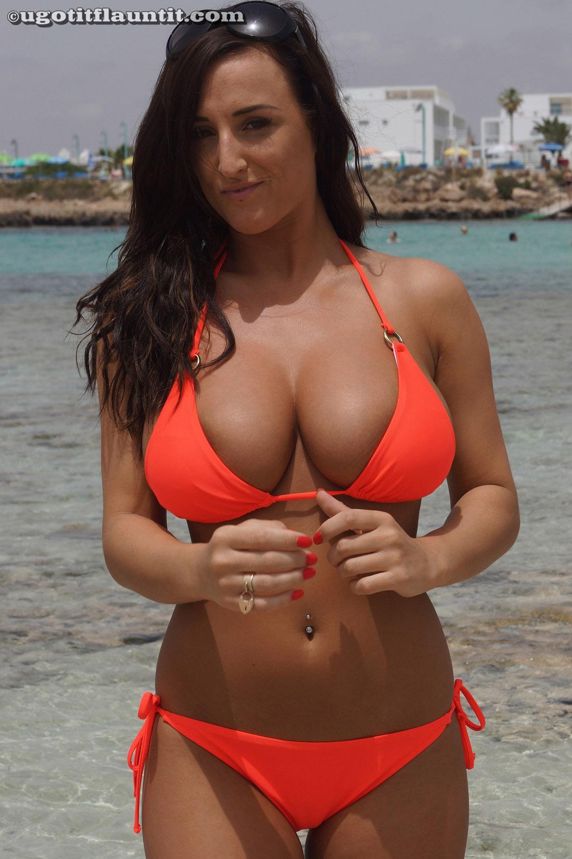 Really. happens. big boobs tiny bikini tops think, that
