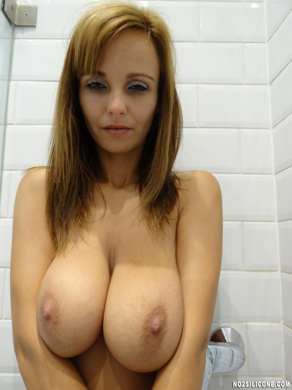 Big tit shower