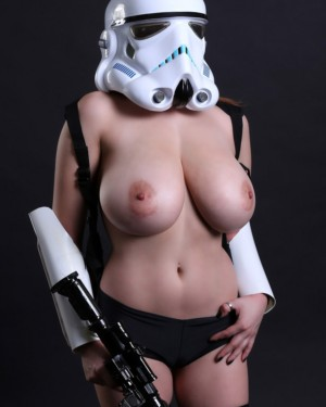 Tessa Fowler plays a storm trooper - November