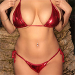 Cara Ruby String Bikini Pinup