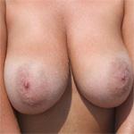 Claudia Red Bikini Boobs