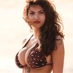 Francoise Boufhal Beach Candids