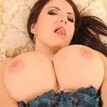 Karina Hart Blue In Bed