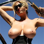 Kelly Madison Topless Biking