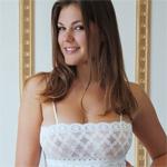 Lora N Sheer White Dress