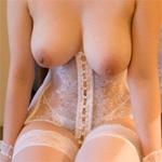Saki Okuda Corset and Stockings