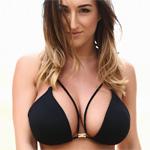 Stacey Poole Tiny Black Bikini