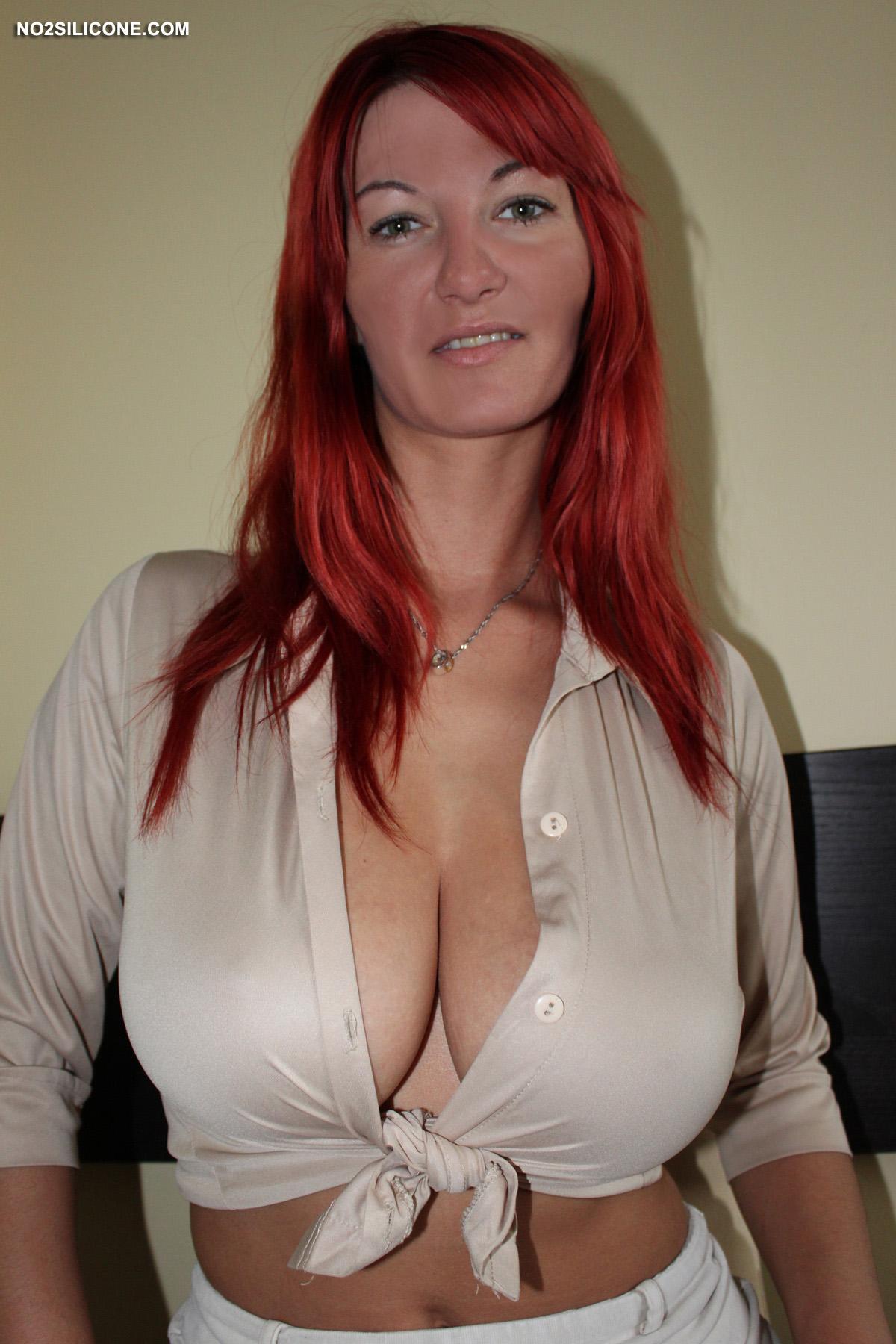 Short redhead big boobs