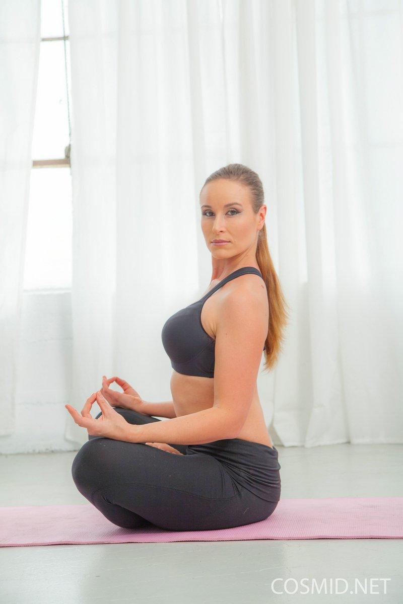 Naked yoga turns raging sex