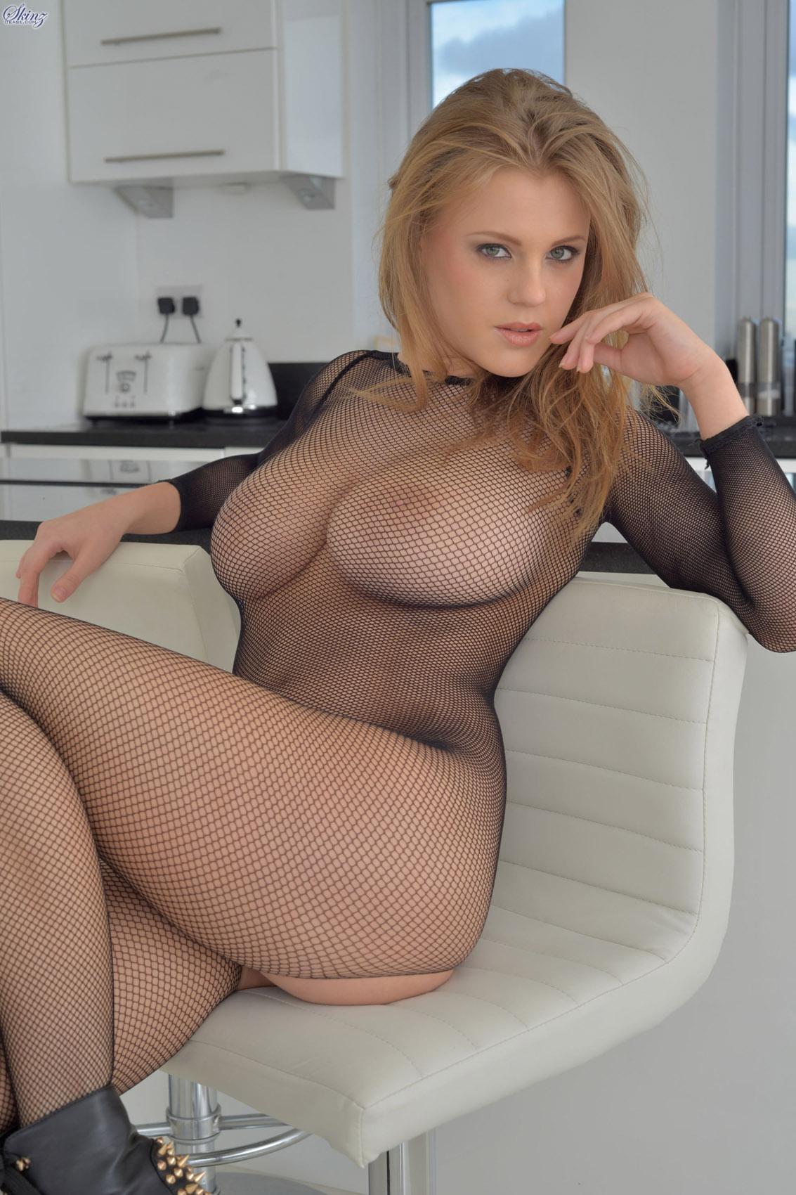 In girl hot fishnet naked