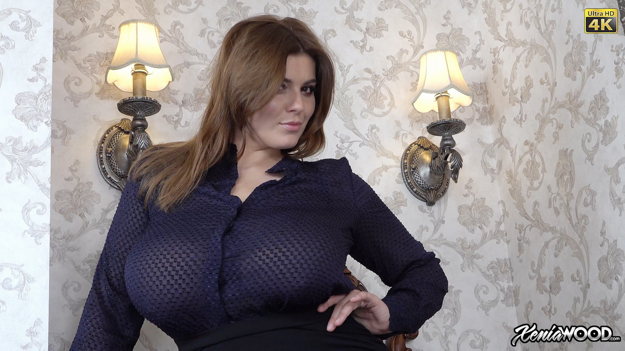 Xenia Wood Open Blouse Boobs Prime Curves
